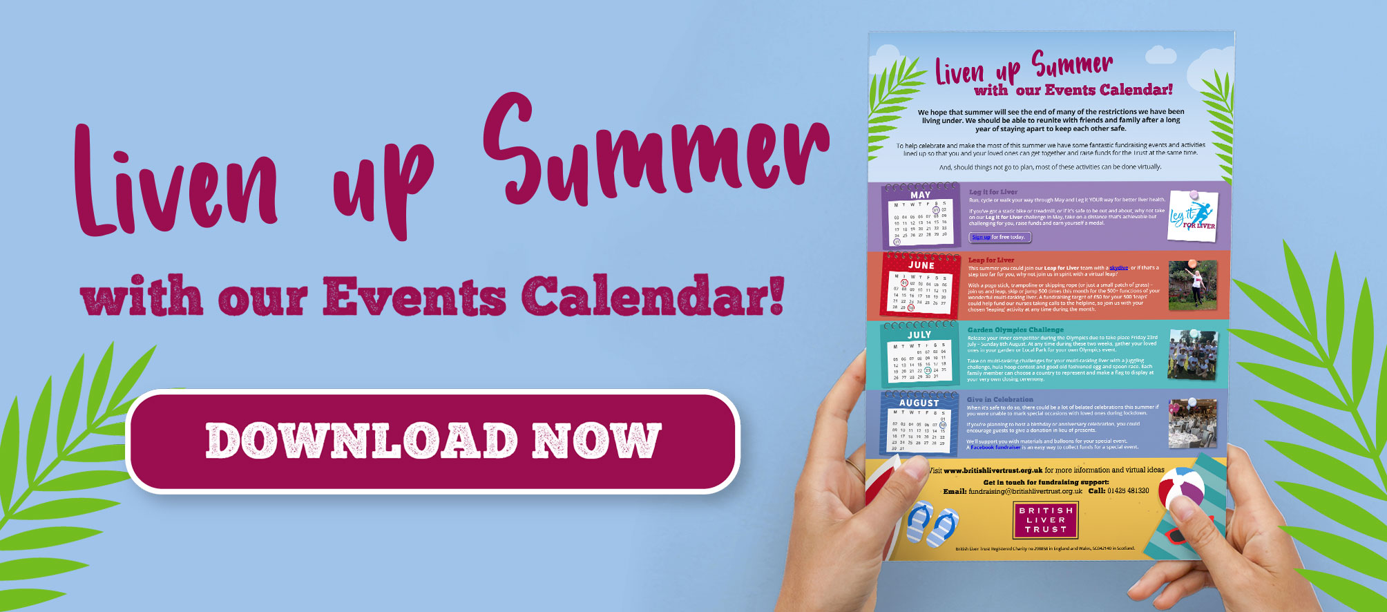 Liven Up Summer with our events calendar! Download now