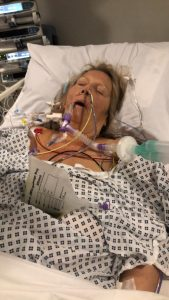 Debbie in hospital