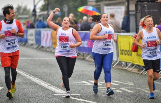 People runny to raise money for British Liver Trust