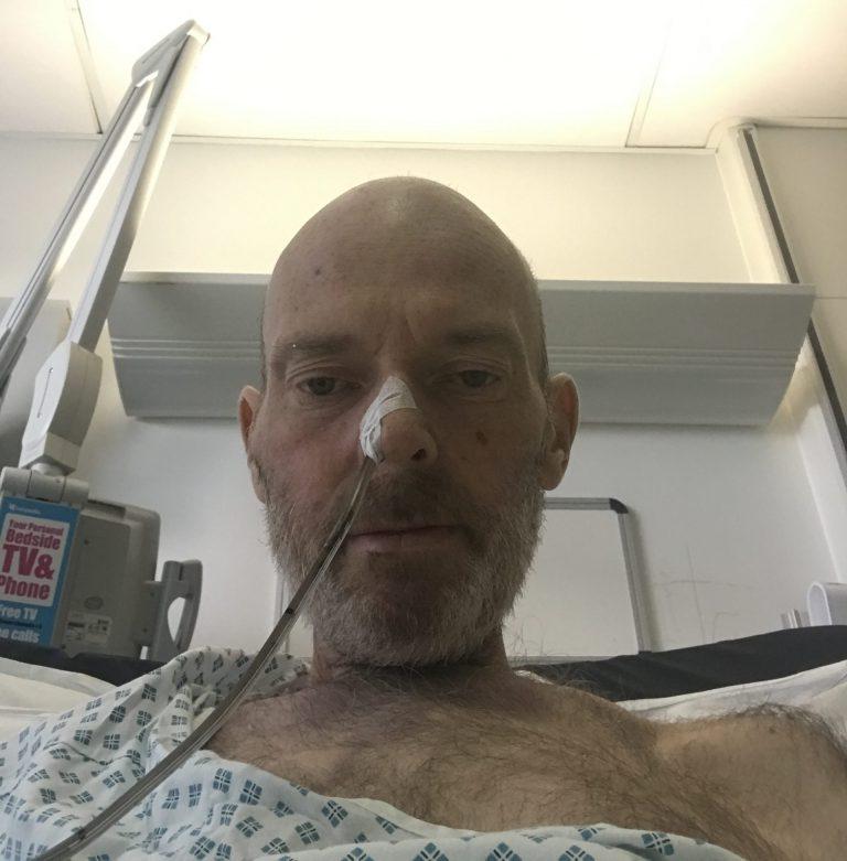 Craig in hospital