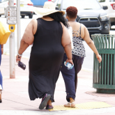 Two obese women