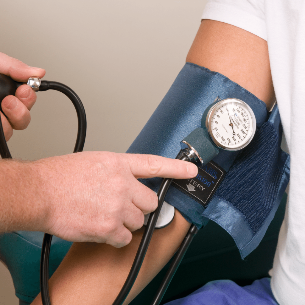 Blood pressure check as part of NHS health check