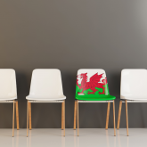 wales flag on chair